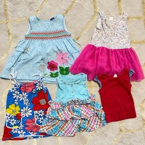 Assorted bundle of 4 dress & 1 top for 12-18M girl
